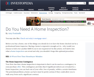 Do I need a home inspection from investopedia